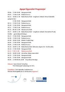 Agapé Egyesület Programjai jpg